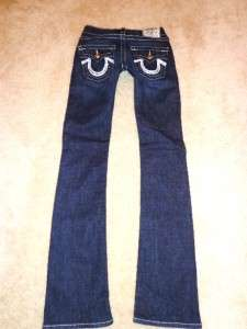TRUE RELIGION WOMENS BOOT LEG HIGH RISE SEQUIN BODY RINSE JEANS 29x33