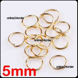 Silver Gold Plated Open Jump Rings Beads Findings More Size you choose