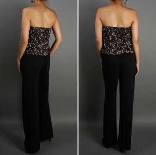Animal Lace Top Jersey Drape Pants SEXY Tube Jumpsuit