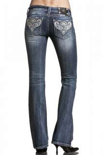 Womens Miss Me Jeans Fleur De Lis In Discharged Style JW5123B8