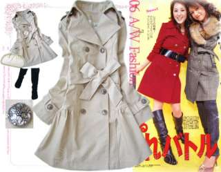 GORGEOUS TRENDY MILITARY TRENCH COAT BEIGE M