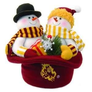 12 NCAA Arizona State Sun Devils Snowmen Top Hat Table