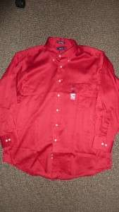 NWT   Izod 100% Twill Cotton Mens Button Down Shirt   Size XL /17/32