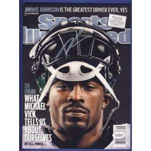 Michael Vick Eagles Signed Sports Illustrated JSA W