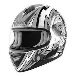 Shark S650 FRAME WT_BK_WT MD MOTORCYCLE Full Face Helmet
