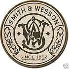 Wesson Gun Revolver Round Logo Since 1852 Vintage Metal Tin Sign USA
