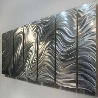 Modern Abstract Silver Corporate Metal Wall Art Decor Sculpture