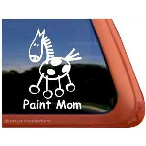 Paint Mom Stick Horse Trailer Vinyl Window Decal Sticker