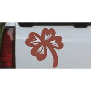 Four Leaf Clover Car Window Wall Laptop Decal Sticker    Brown 20in X