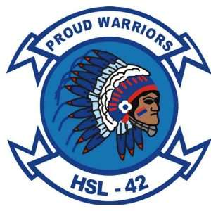 US Navy HSL 42 Proud Warriors Squadron Decal Sticker 3.8
