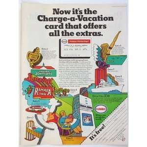 1969 Humble Oil Charge A Vacation Card Print Ad (1143