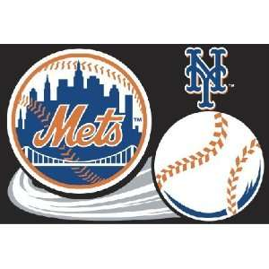 New York Mets Tufted Floor Rug   MLB Baseball Fan Shop Sports Team