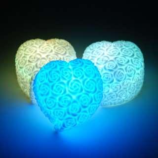 LED color change rose heart love light party wedding