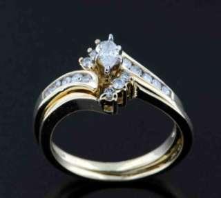 50 CARAT MARQUISE DIAMOND ENGAGEMENT RING 14K YELLOW GOLD