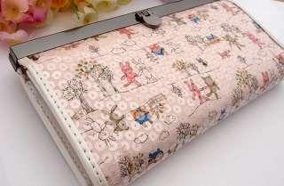 New fashion Rabbits pu leather long lady women clutch wallet/purse