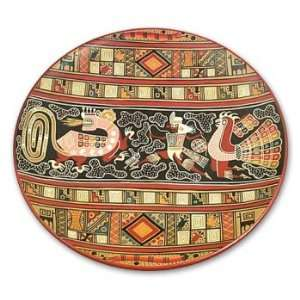 Ceramic plate, Inca Warrior  Home & Kitchen