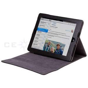 Black Leather Case Flip Multi View Stand for iPad 2