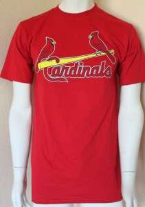 MLB St Louis Cardinals Major League Crew Neck T Shirt S