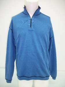 IZOD Mens Reversible 1/4 Zip Sweater   Medium blue / navy