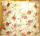 2PC Set Cotton Floral Cushion Cover Roses in Pink 21.5