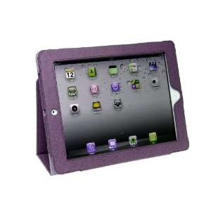 iPad 3 Synthetic Leather Case Cover Slide In Pouch and Kickstand