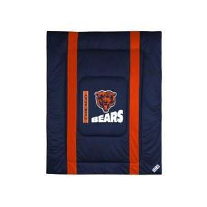 Chicago Bears Sideline Comforter   Full/Queen Bed Sports