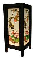 OLD DESIGN ASIAN ORIENTAL LOTUS and FISH TABLE LAMP