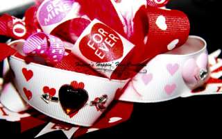 Funky Valentine Heart Loopy Boutique Hair Bow Girl. SO CUTE