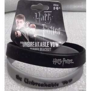 HARRY POTTER Unbreakable Vow Set of 2 Rubber Bracelet WRISTBANDS