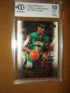 Lebron James RC 2003/04 Upper Deck Box Set Card BCCG10