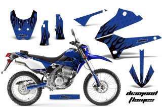 MOTORCROSS D TRACKER DIRT BIKE DECAL WRAP KAWASAKI KLX 250 08 12 DMKU