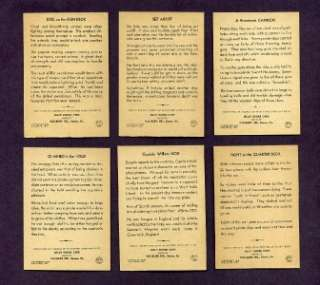 1936 PAC KUPS JOLLY ROGER PIRATE SET   48 CARD COMPLETE SET