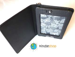 NEW BLACK  Kindle TOUCH Light Lighted Leather Case Cover LED