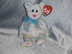 2001 Ty Beanie Baby Kissme Bear Born Feb.7, 2001