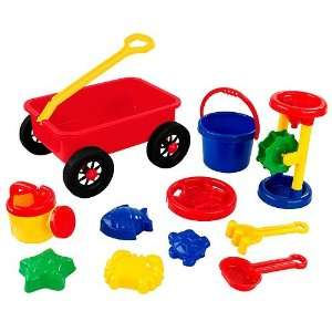 Kidkraft Childrens 11Pc Plastic Wagon Sand Toy Set Toys & Games
