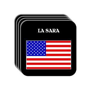 US Flag   La Sara, Texas (TX) Set of 4 Mini Mousepad