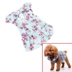 Pet Dog Floral Dress Clothes Apparel Size L