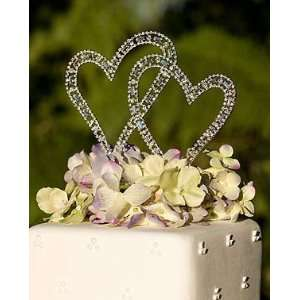 Bel Aire Bridal Double Heart Cake Jewelry with Swarovski