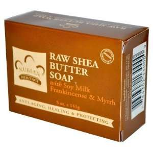 Nubian Heritage  Raw Shea Butter Soap, Soy Milk, Frankincense & Myrrh