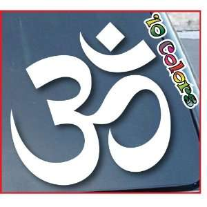 OM Hindu Symbol Car Window Vinyl Decal Sticker 7 Wide