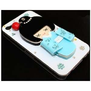 Cute Lovely Japan Girl Bling Rhinestone Hard Case Cover iPhone 4