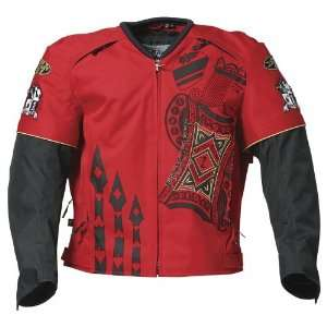 JOE ROCKET LUCKY TEXTILE JACKET MENS RED/BLACK/GRAY LG