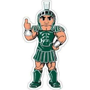 MICHIGAN STATE SPARTANS SPARTY OFFICIAL DIE CUT CAR DECAL