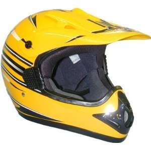 Xxlarge Mx Dirt Bike Motocross Helmet Dot Yellow Adult Automotive