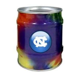 North Carolina Tar Heels UNC NCAA Tie Dye Tin Bank Sports