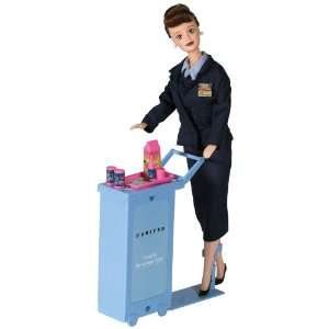 Daron United Airlines Flight Attendant Doll: Toys & Games
