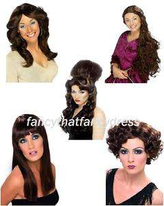 Brown Wig Long Short Curly Afro Bob Fancy Dress Ladies