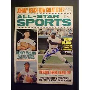 Tony Oliva Minnesota Twins Autographed September 1970 All Star Sports