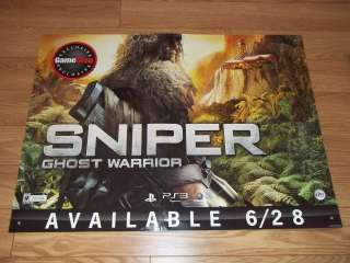 HUGE 36 Promo Sign Poster NO GAME   SNIPER GHOST WARRIOR Xbox 360 PS3