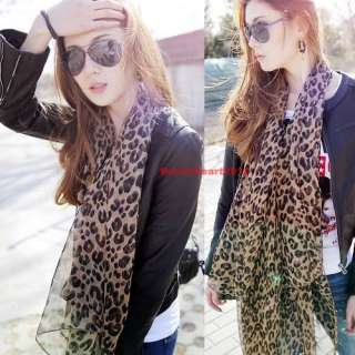 New 100% Silk Animal Leopard Print long Scarfs